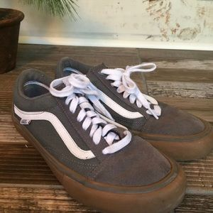 Vans Gray And White Suede & Canvas Mens